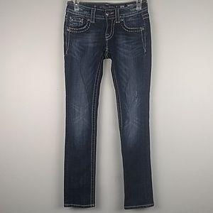 Miss Me Signature-Rise Straight Leg Jeans